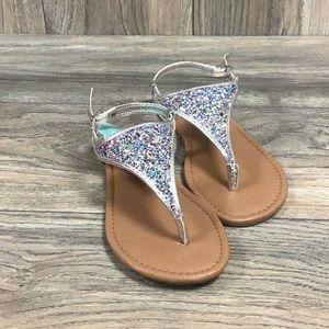 SO Skies Silver Sandals